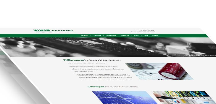 Neue Homepage der Firma Bunse Elektrotechnik aus Büren